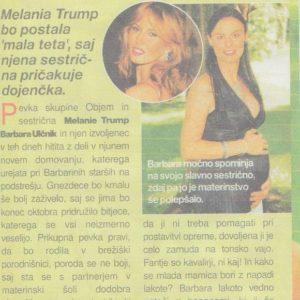 Melanija Trump Knavs postaja teta Revija Casopisni clanek