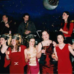 Skupina Objem bend na maturantskem plesu