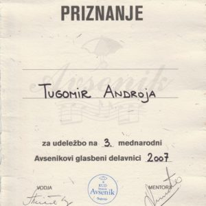 Tugomir priznanje Revija Casopisni clanek