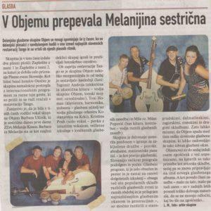 V Objemu Melanijina seseticna Revija Casopisni clanek