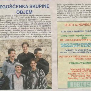 Zgoscenka skupine Objem Revija Casopisni clanek
