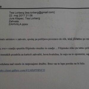 Reference komentarji mnenje strank ZAHVALA Porocni ansambel OBJEM Tea Lorberg