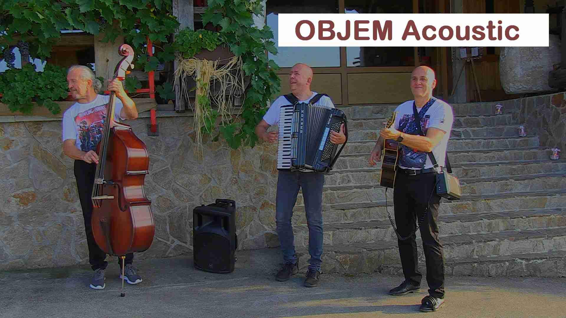 Akustična glasbena skupina OBJEMacousti akustični band akustična glasba
