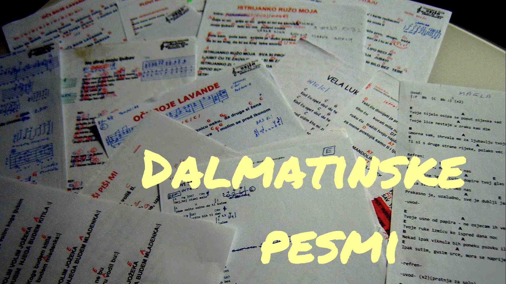 Dalmatinske pesmi dalmatinski mix za feste zurke poroke rojstni dan veselice zabave