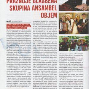 Ansambel muzikanti glasbeniki band Objem časopisni članek